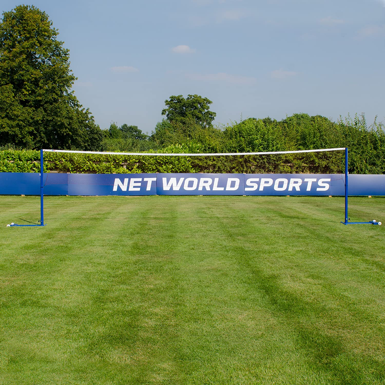 Steel Posts /& Non Slip Wheels Vermont ProCourt Freestanding Badminton Posts /& 20ft Net