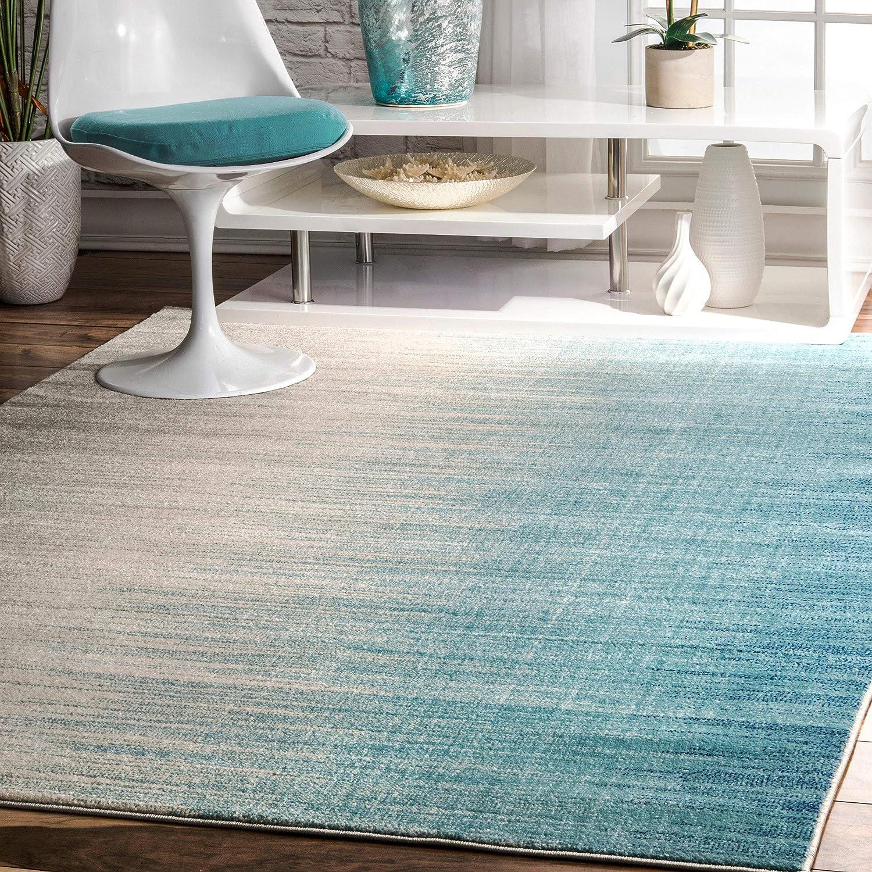 Amazon Com Nuloom Lexie Ombre Area Rug 6 7 X 9 Blue Furniture Decor