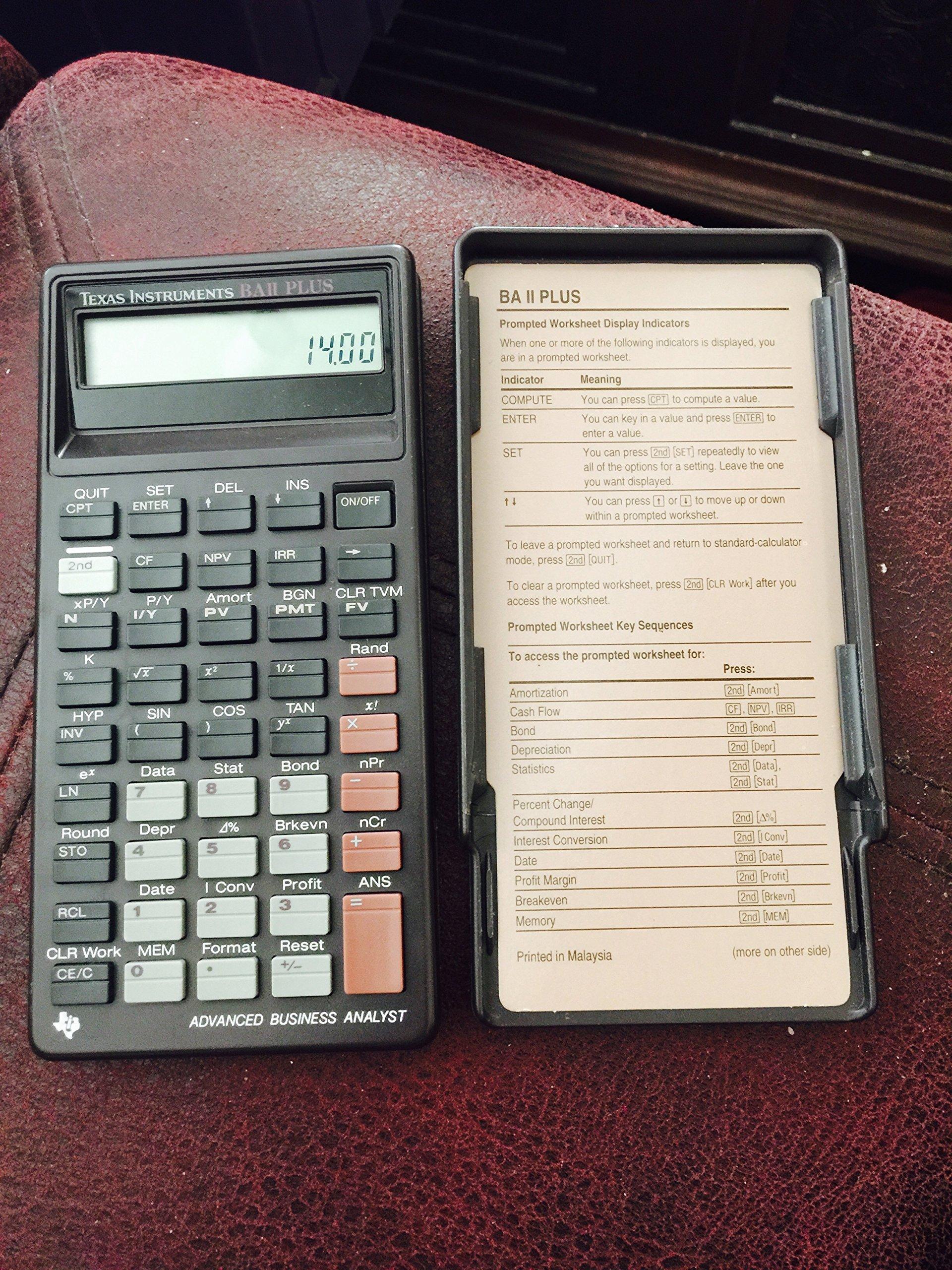1992 Texas Instruments BA II Plus Financial Business Calculator