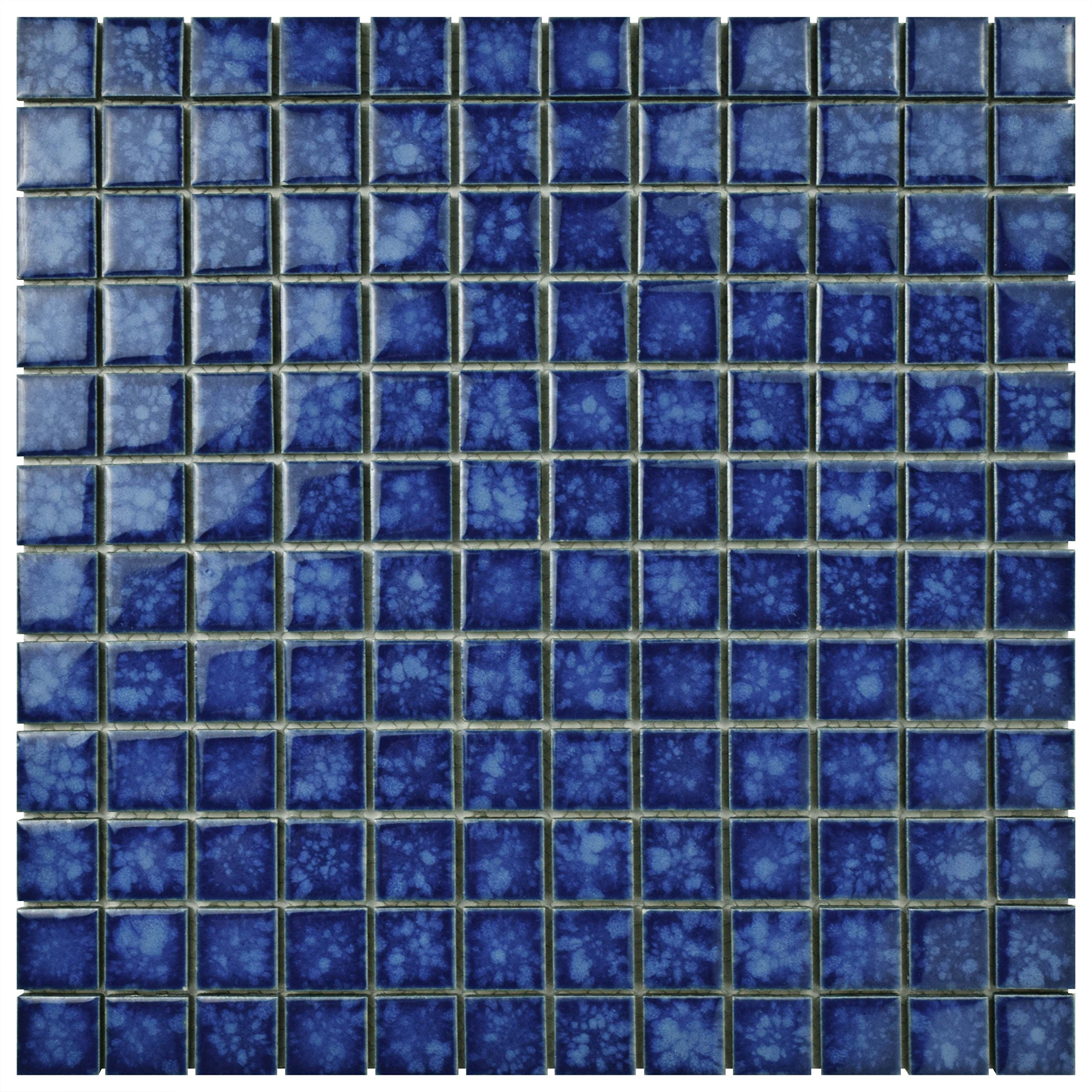SomerTile FYFL1SPA Sea Square Pacific Porcelain Floor and Wall Tile, 11.75'' x 11.75'', Blue