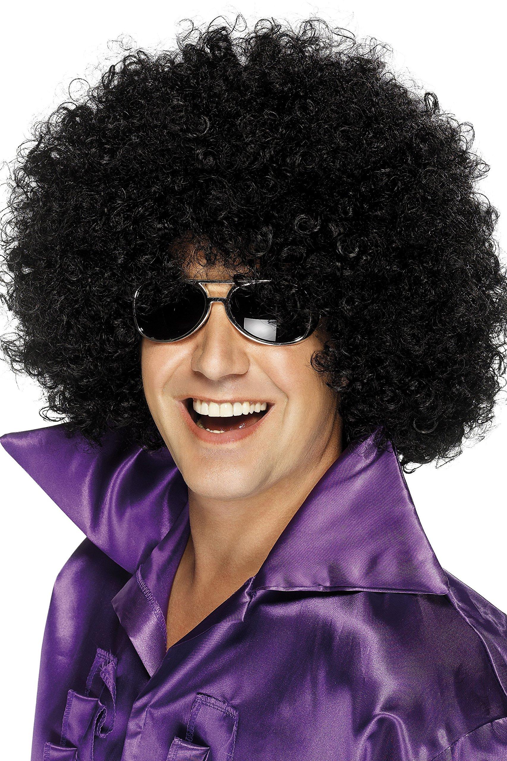 Smiffys Men's Mega-Huge Black Afro Wig, One Size, 5020570420348