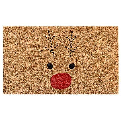 rudolph door mat