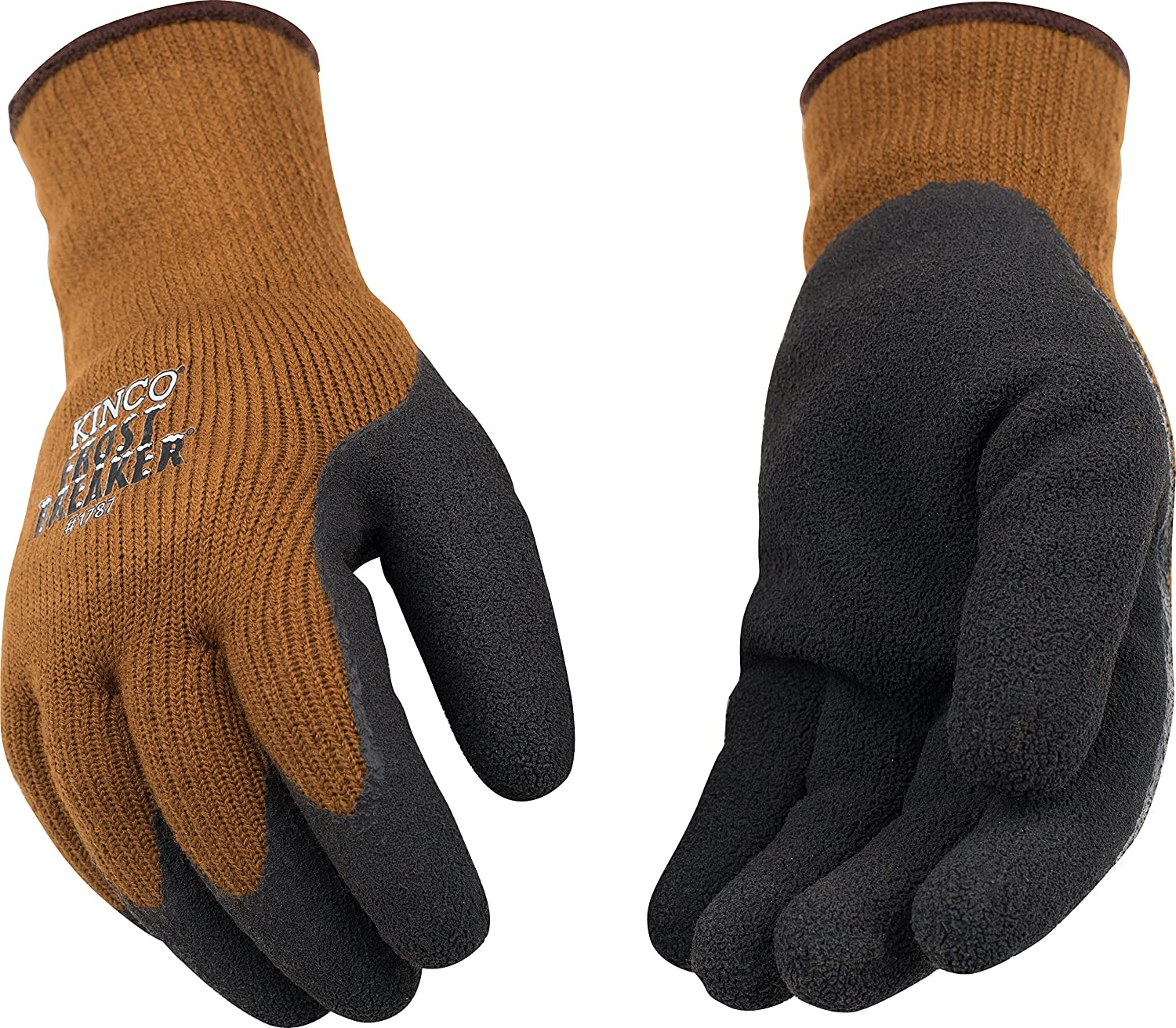 Kinco 1787 Frostbreaker Foam Latex Form Fitting Thermal Gripping Glove, Work, X-Large, Brown (Pack of 6 Pairs) by KINCO INTERNATIONAL 1787-XL-6PK
