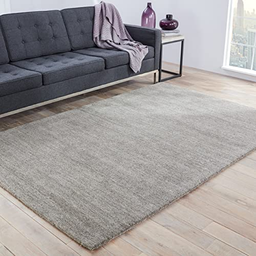 Jaipur Living Elements Handloom Solid Gray Silver Area Rug 2 X 3