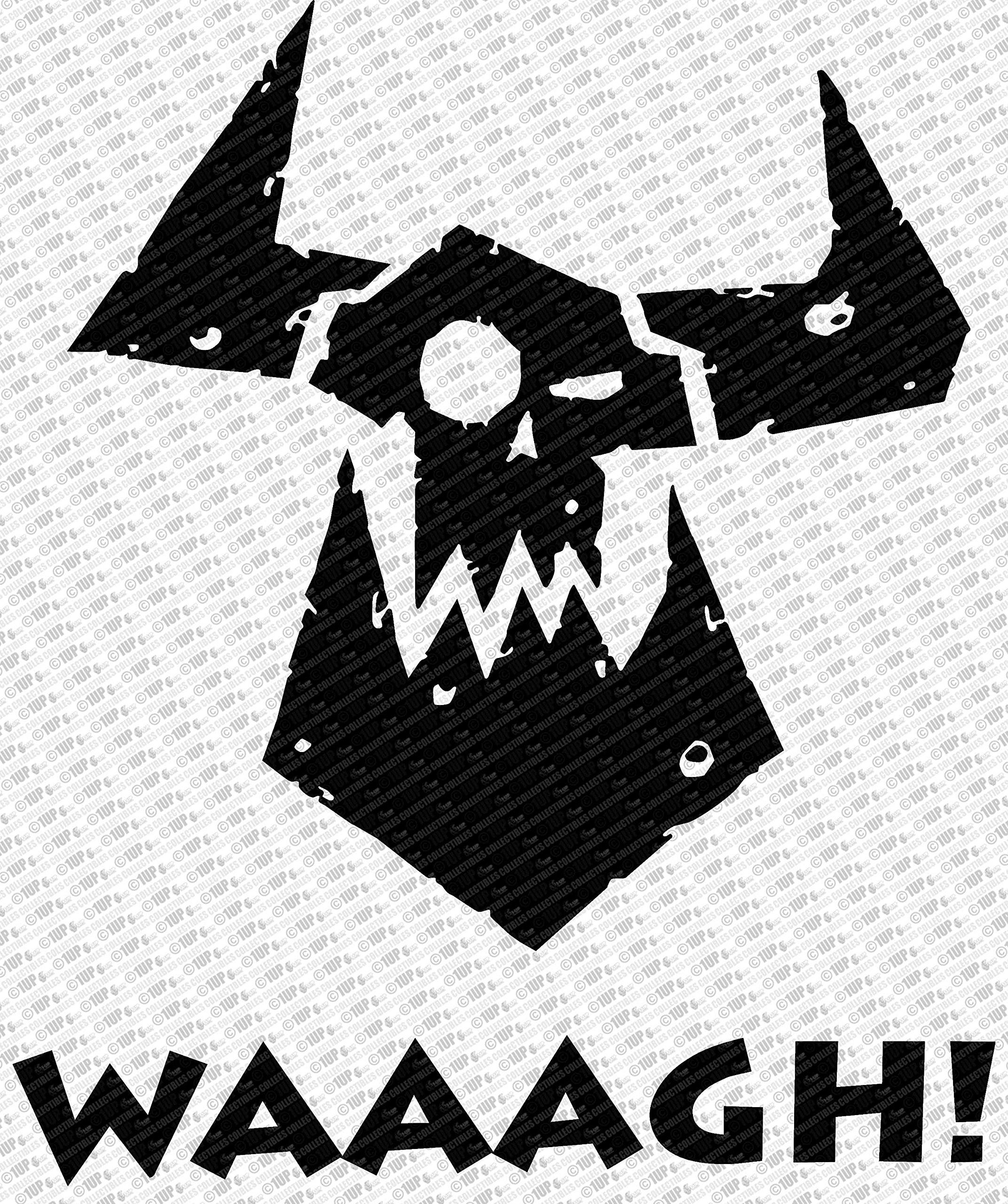 Galleon collectible decals warhammer 40k orc waaagh die cut vinyl decal sticker 6 black