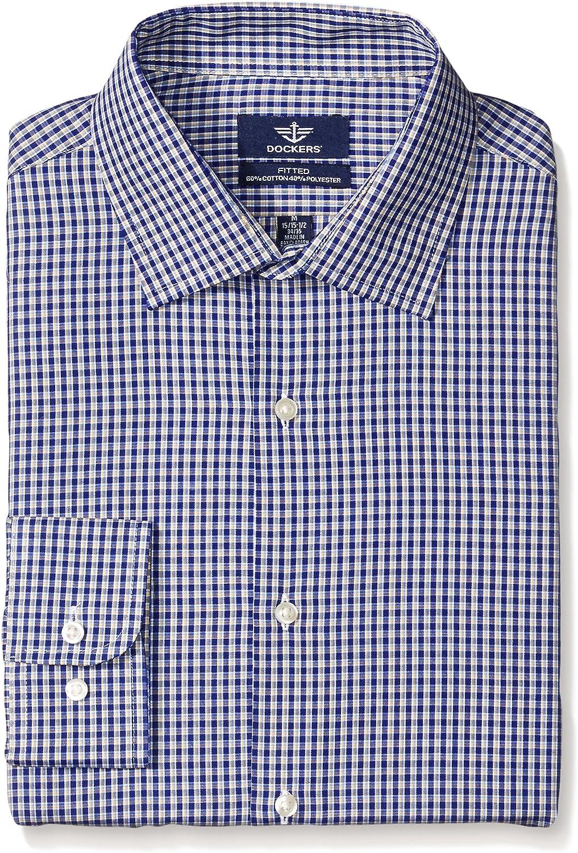 Dockers Camisa de cuadros sábana bajera azul marino para ...