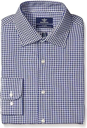Dockers Camisa de cuadros sábana bajera azul marino para hombre – propagación cuello: Amazon.es: Ropa y accesorios