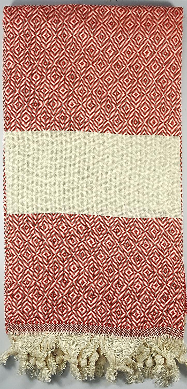 Calidad tamaño grande de lujo Turco Hammam Peshtemal toalla de baño de algodón playa vendedor UK, rojo rubí: Amazon.es: Iluminación