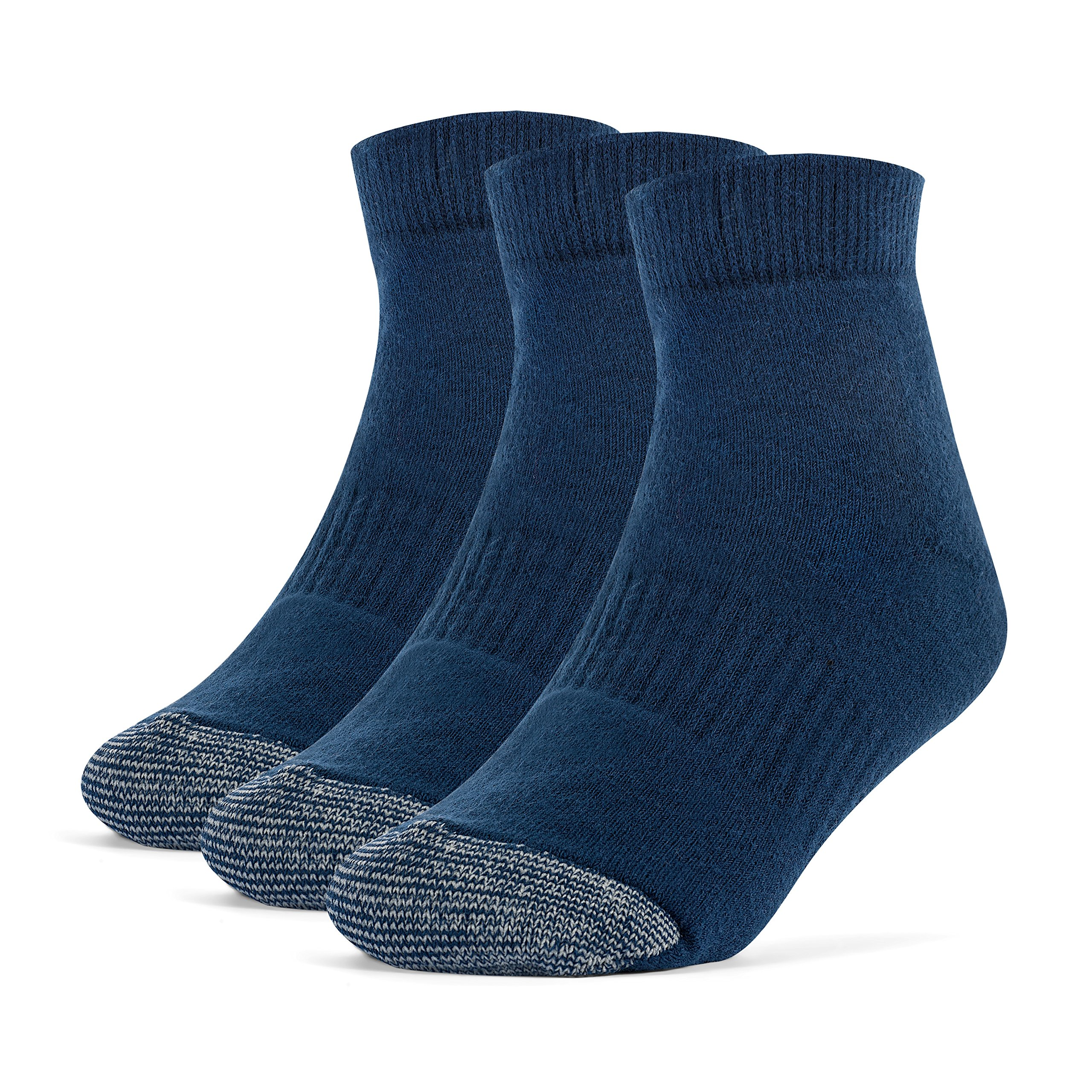 Galiva Girls' Cotton Extra Soft Ankle Cushion Socks - 3 Pairs, Medium, Navy Blue by Galiva (Image #1)