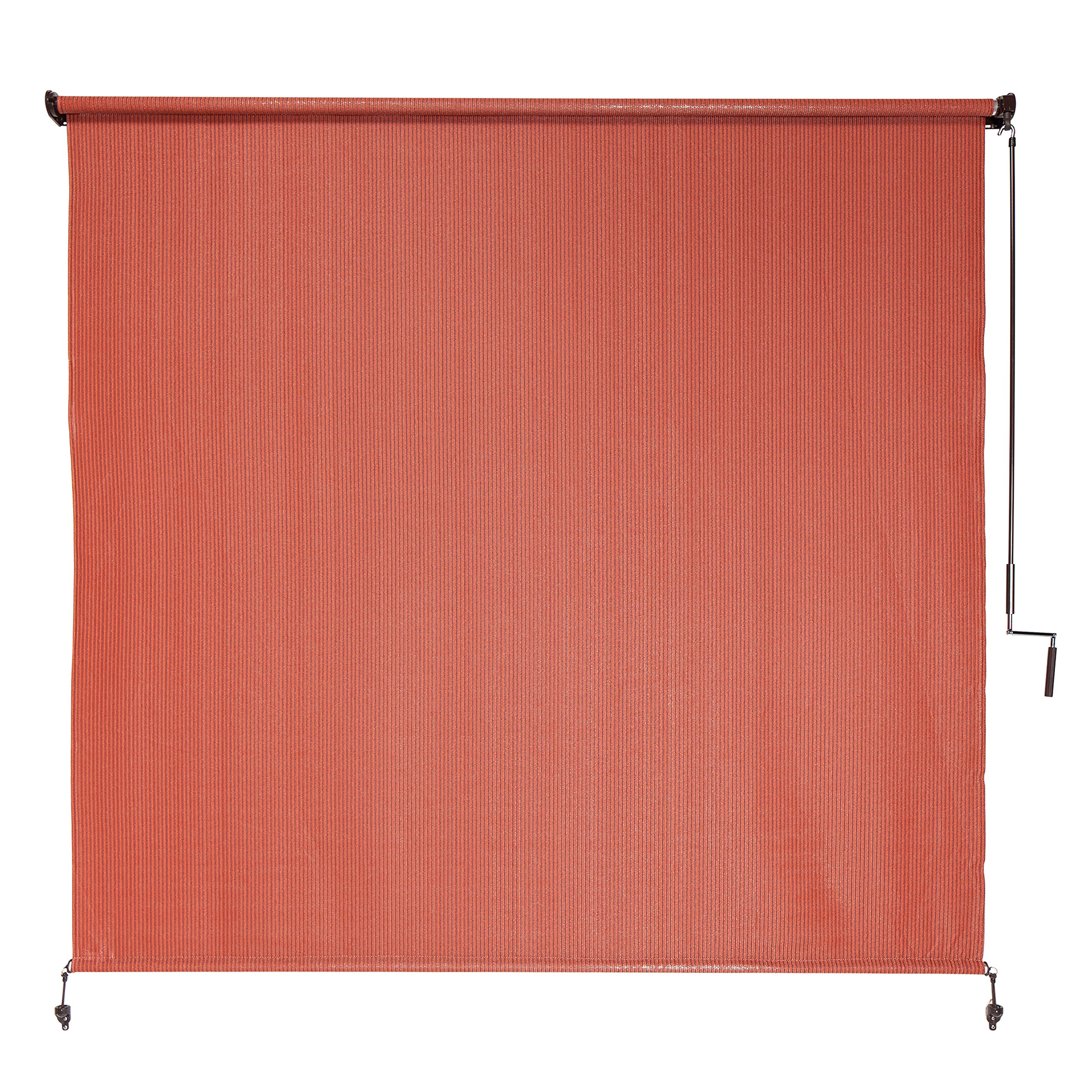 Coolaroo Exterior Roller Shade, Cordless Roller Shade with 90% UV Protection, No Valance, (6' X 6'), Terracotta by Coolaroo
