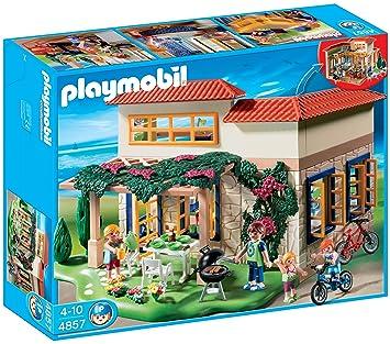 Playmobil 4857 Summer Fun Family Holiday Home Amazon Co Uk Toys