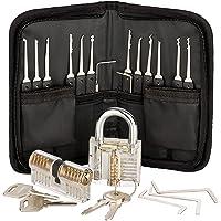Premium Lockpicking Set Lock Pick Tools 25-delige Kit 2 Duidelijke Sloten In 2 Moeilijkheden Voor Oefeningstrainingen En…