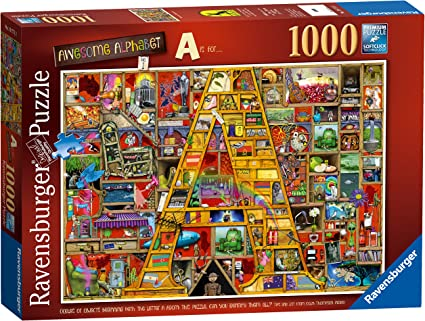"1000 Piece Jigsaw Puzzle Awesome Alphabet /""A/"" Colin Thompson"