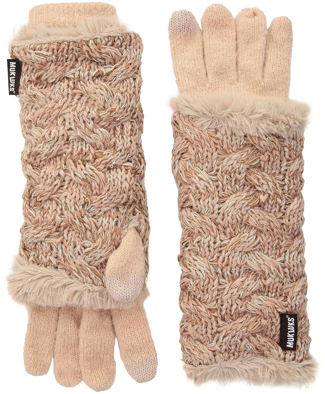 Muk Luks Women's 3-in-1 Gloves Light Purple One Size 0034376530-OS