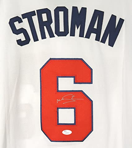 d01d1651c3a Image Unavailable. Image not available for. Color  Marcus Stroman Toronto  Blue Jays Signed Autographed Team USA White  6 Jersey ...