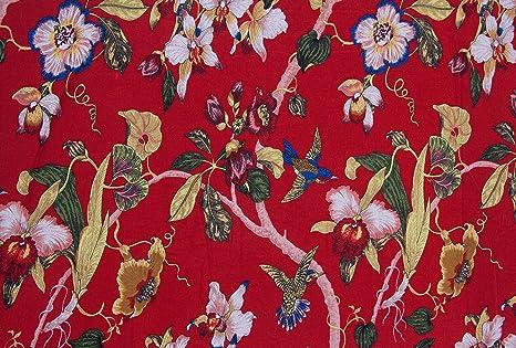 100% algodón Popelina rojo sofá de lona impresa de coser ...