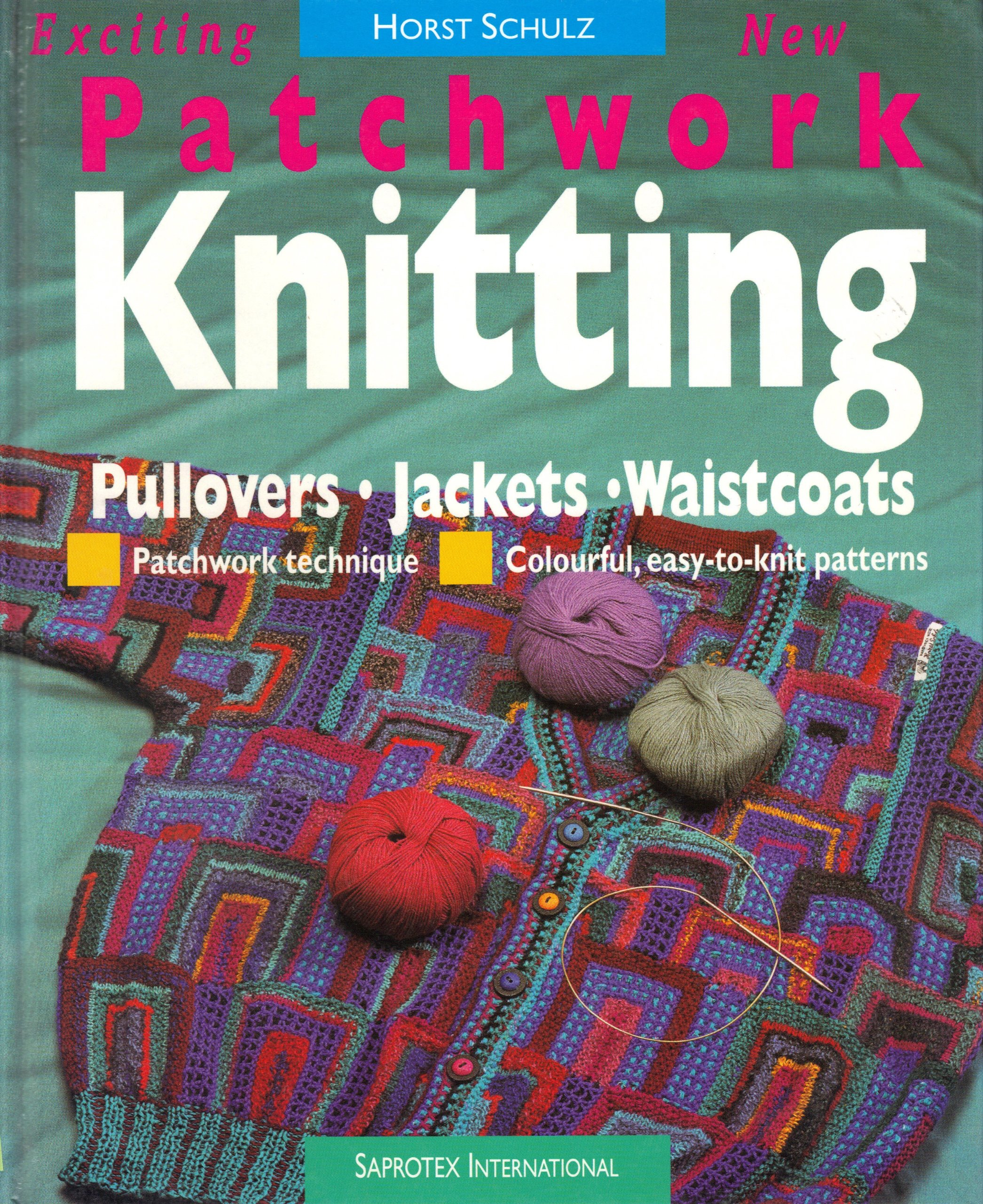 How To Make A Knitted Book Cover ~ Patchwork knitting horst schulz  amazon books