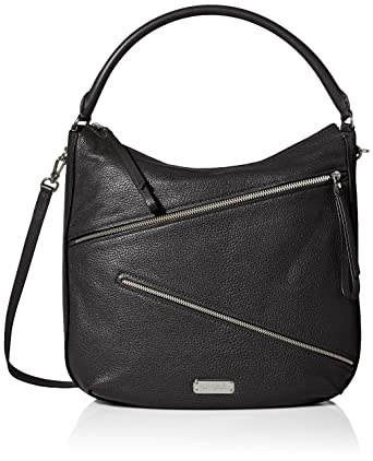 Amazon.com: Marc by Marc Jacobs Serpentine Hobo Bag, Black, One ...