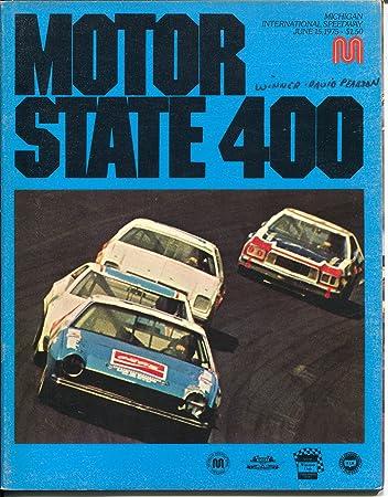 Michigan International Speedway Auto Race Program NASCAR 6/15/1975-Petty-Foyt