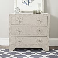 Overstock.com deals on Safavieh Gordy Grey 3 Drawer Chest