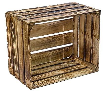 Flameado de madera 49 x 42 x 31 cm caja de fruta de // del