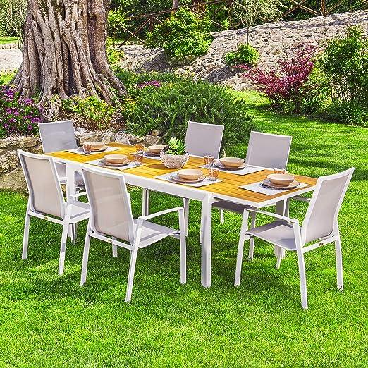 Tavolo Per Terrazzo Allungabile.Scaramuzza Modo Set Tavolo Allungabile E 6 Poltrone Per Esterno