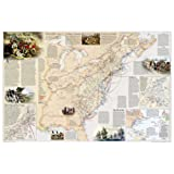 Battles of the Revolutionary War and War of 1812 Wall Maps History & Nature (National Geographic Reference Map)