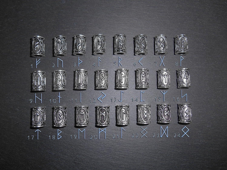 Pulsera de Lava volc/ánica negra natural de 10 mm Vikinga Joyer/ía Vikinga y 24 Runas Pulsera Unisex Cultura Escandinava Futhark Abecedario Vikingo Pulsera R/única N/órdica