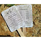 Personalized Wedding fans/ Wedding fans for guests/Wedding program fans/Wedding favors/Rustic Wedding/Burlap and Lace