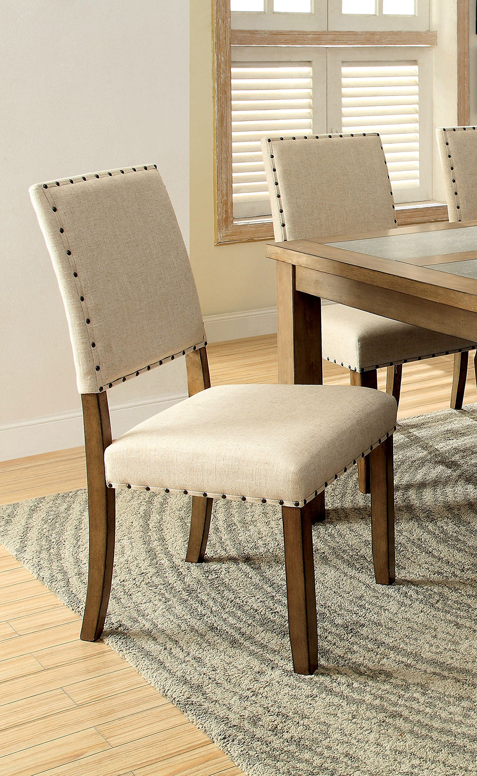 Furniture of America Lucena Transitional Dining Chair, Set of 2