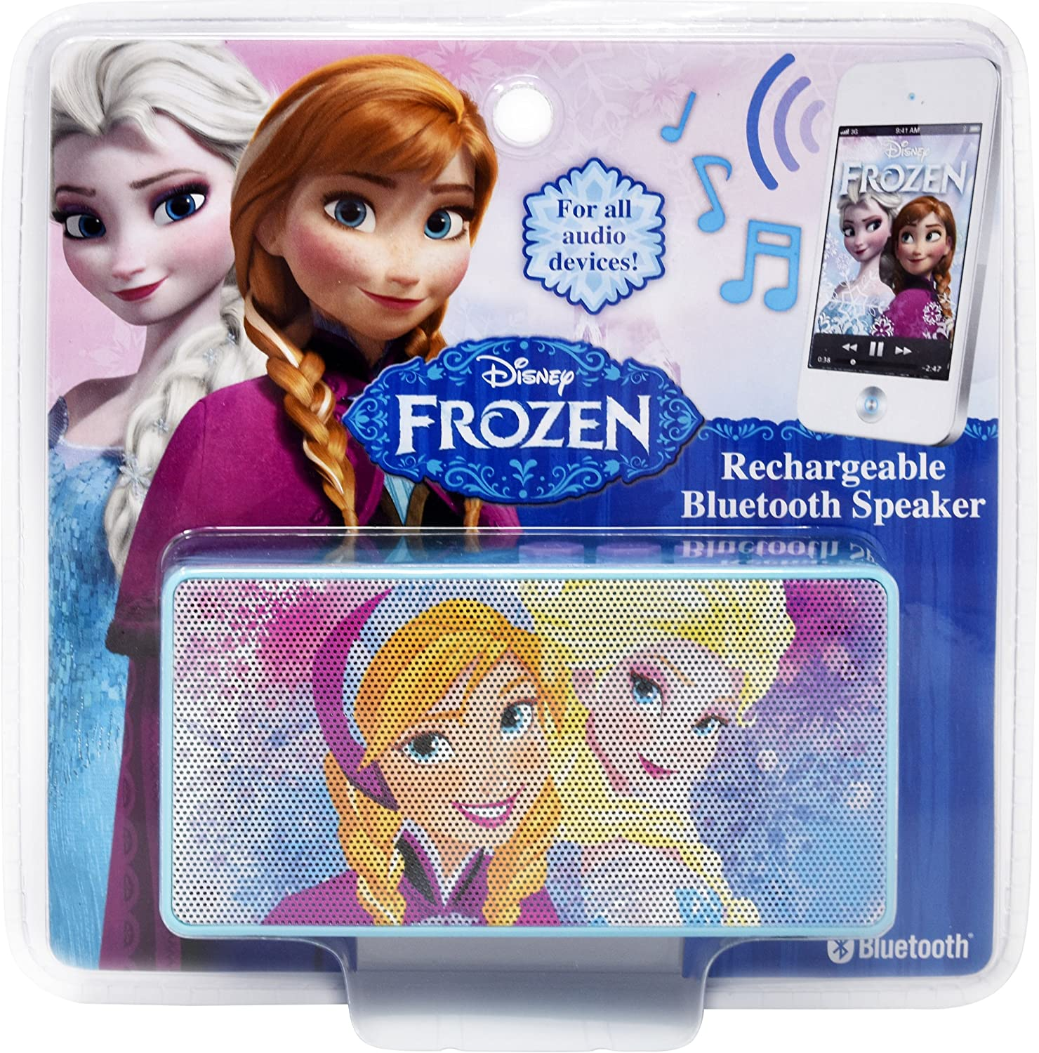 Smartphone MP3 Player Or Other Bluetooth-Enabled Device Wireless Rechargeable Portable Speaker with 3.5mm Headphone Port Device Stream Music From Computer Disney Frozen Bluetooth Speaker Tablet