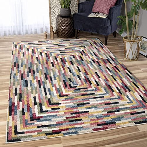 Orian West Village Cobblestone Area Rug, 7 10 x 10 , Multicolor