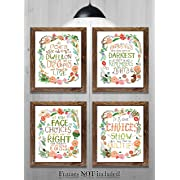 Gifts for Harry Potter fans! - Set of 4-8 x10  Prints - Harry Potter Quotes and Sayings (HP Wreath)