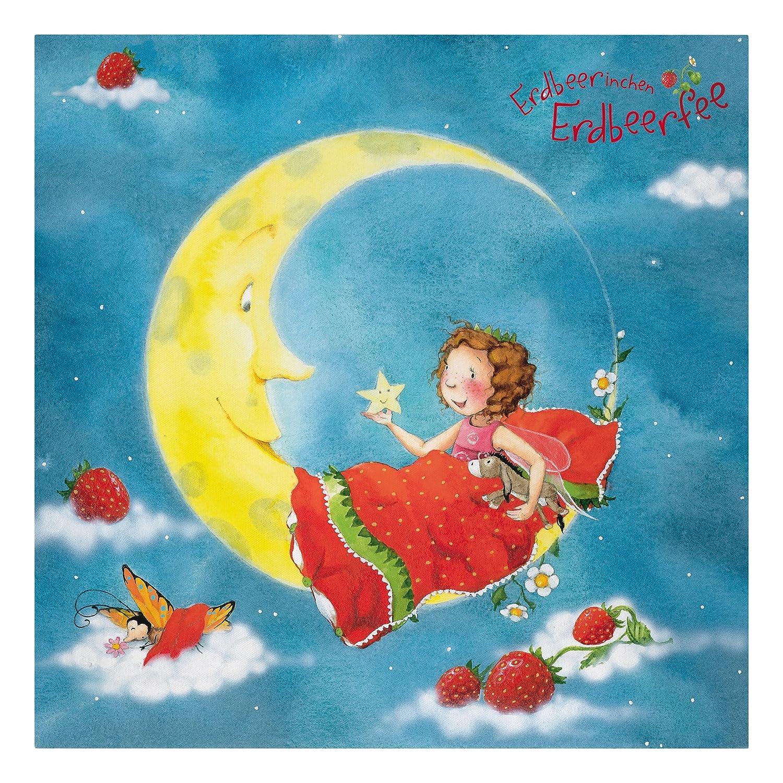 Bilderwelten Leinwandbild - Erdbeerinchen Erdbeerfee - Träum schön - Quadrat 1  1, Größe HxB  60cm x 60cm
