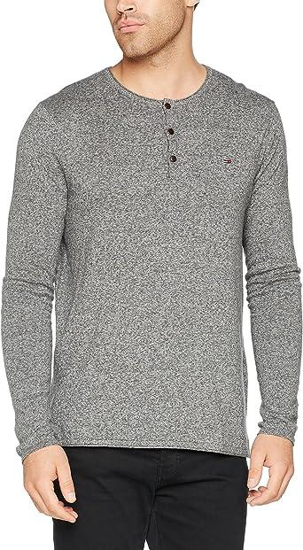 Tommy Hilfiger Basic Henley Camisa, Gris (Dark Grey Htr 075), Medium para Hombre: Amazon.es: Ropa y accesorios