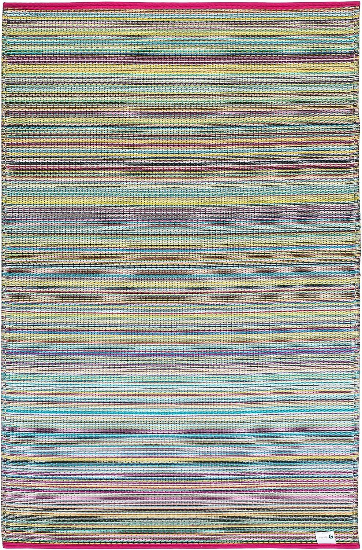 Fab Hab Habitat Reversible, Innen-   Außenwitterungsbeständig Bodenmatte Teppich - Cancun in Candy (120 cm x 180 cm)