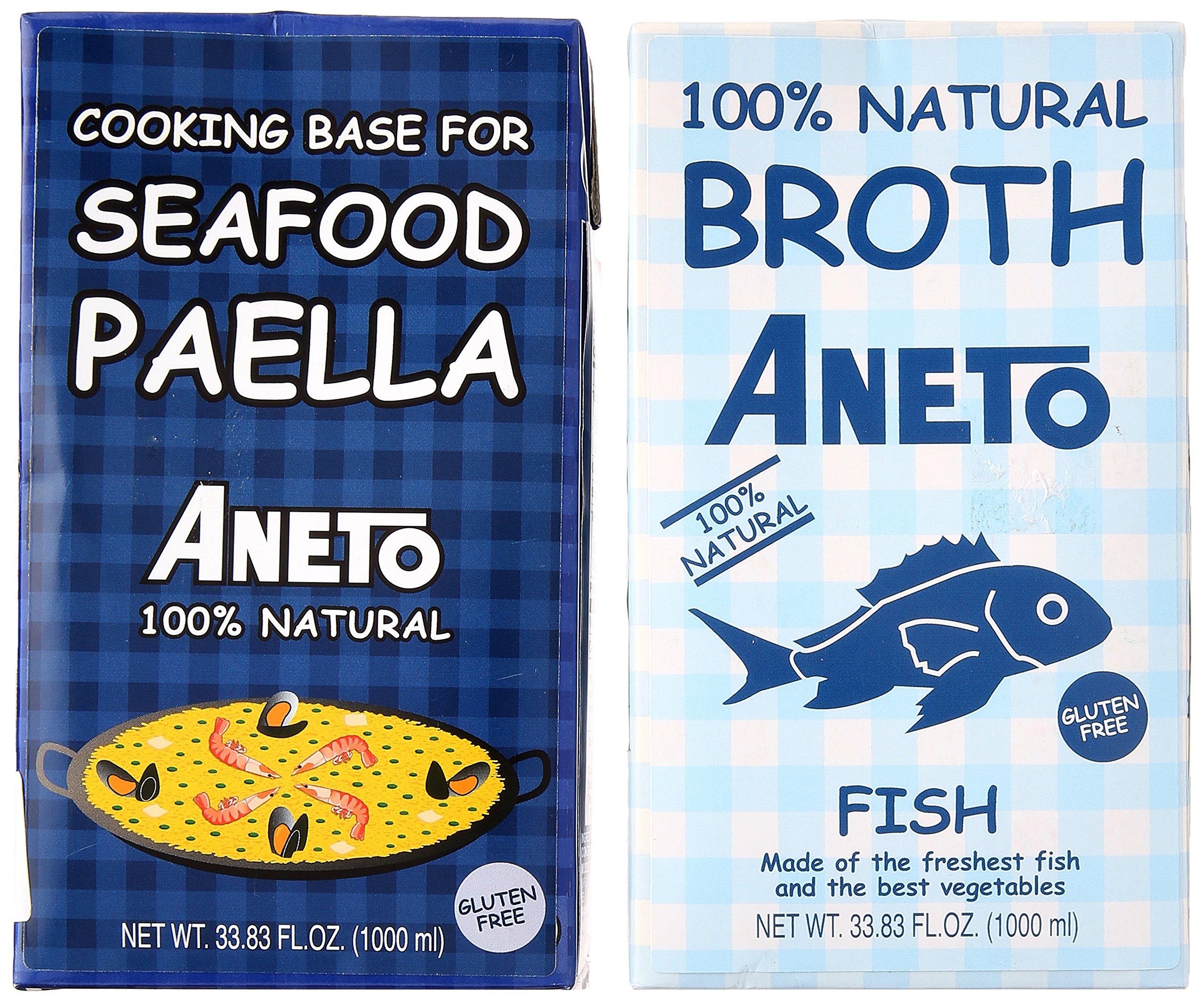 Delicias de Espana, Seafood and Fish Broth to use as a Paella base, total 2 liters