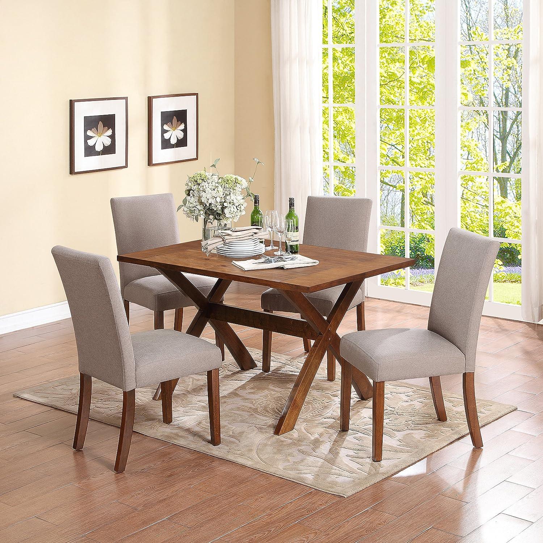 dorel living multi functional dining table dark pine