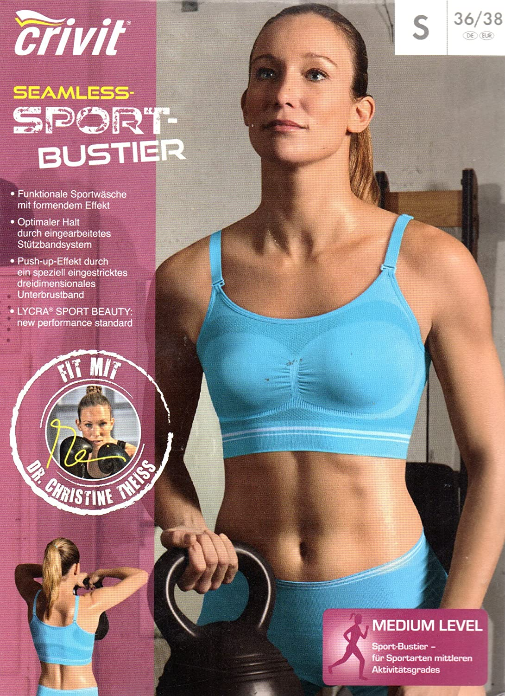 Crivit Mujer de Seamless - Sujetador deportivo, Medium Level ...