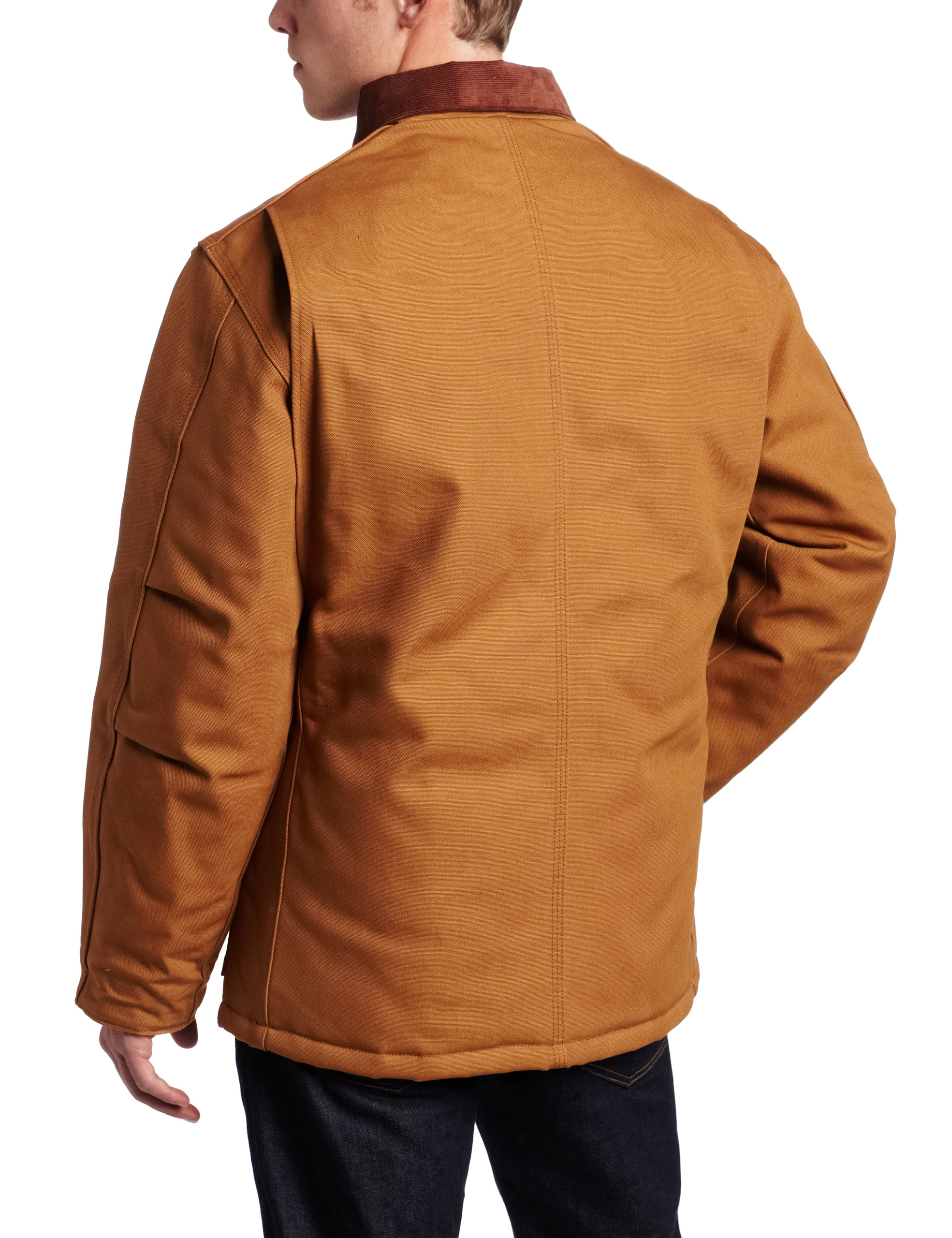 Carhartt Men's Arctic Quilt Lined Duck Traditional Coat C003,Brown,Large by Carhartt (Image #2)