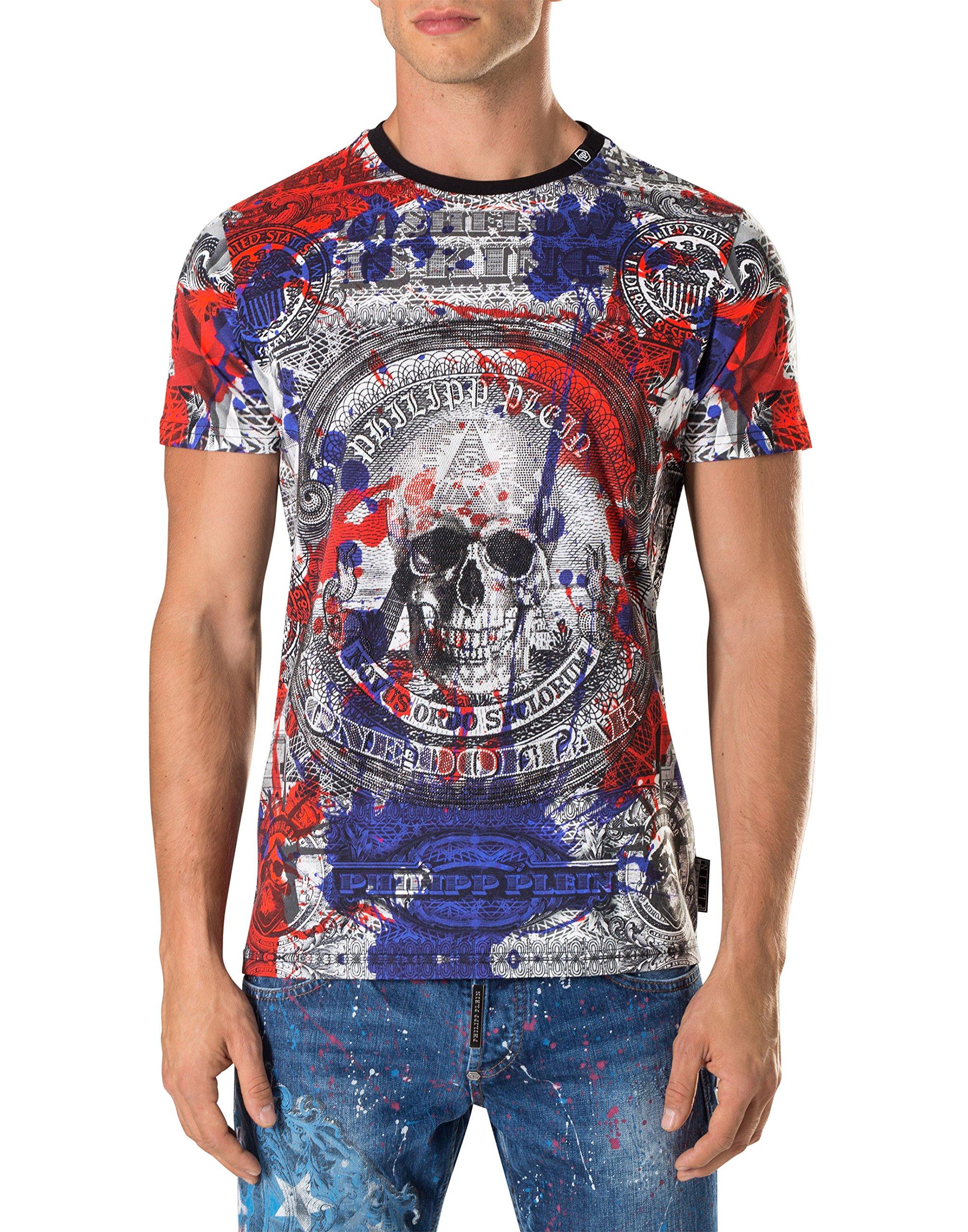 PHILIPP PLEIN Men's T-shirt Herb - multicoloured, XXL by Philipp Plein