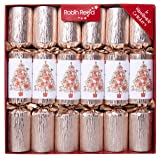 Red Co. Classic English Festive Party Favors, Roses Gold Tree Design, Large 12 Inch, Gift Box Set of 6