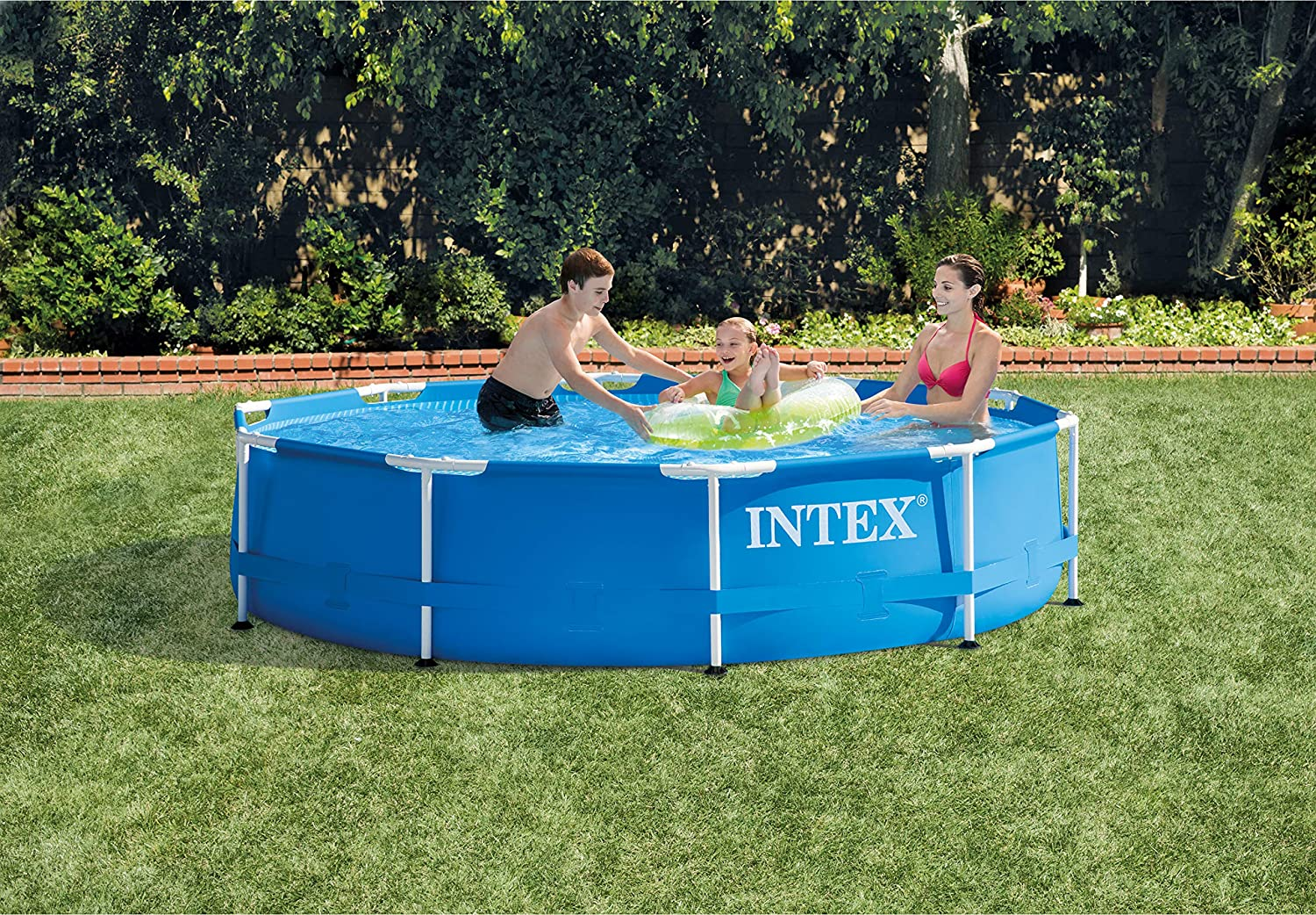 Intex Metal Frame - Piscina desmontable, 305 x 76 cm, 4.485 l