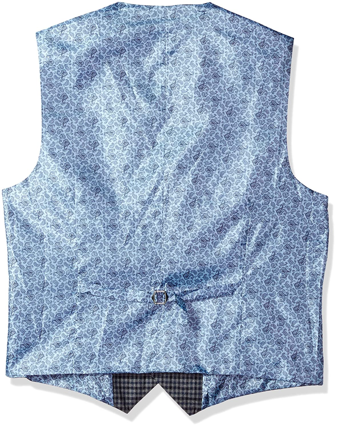 Alexander Julian Colours Mens Big and Tall Big /& Tall Modern Fit Check Suit Separate Vest