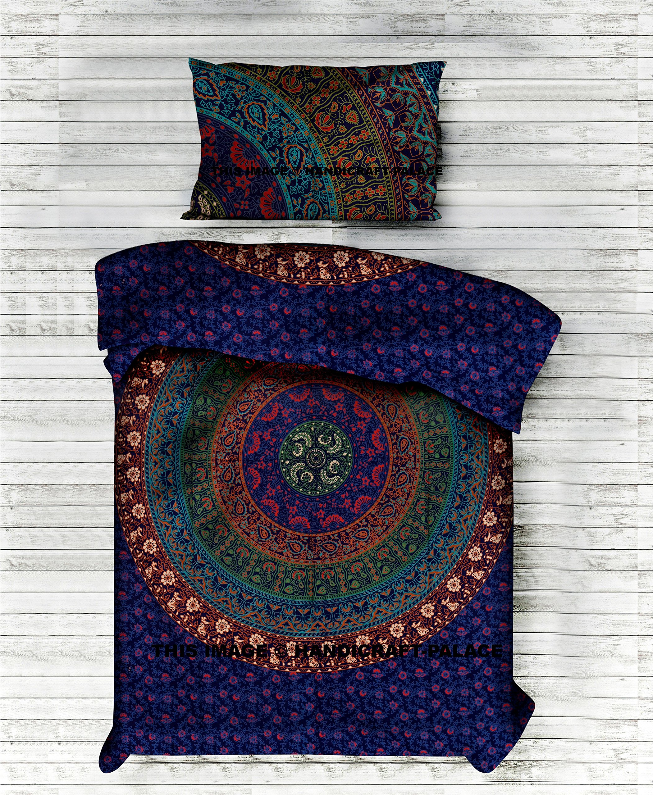 Indian Twin Mandala DUVET COVER WITH PILLOWCASES By ''Handicraftspalace'' , Twin Duvet Cover, Mandala Duvet Doona Cover Pillow Case Bedding Set