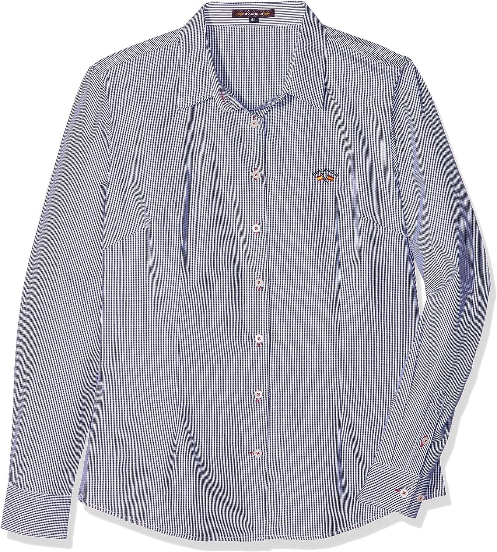 Spagnolo 304338046029, Camisa Para Mujer, Multicolor (Cuadro Azul Marino y Blanco), XS: Amazon.es: Ropa y accesorios