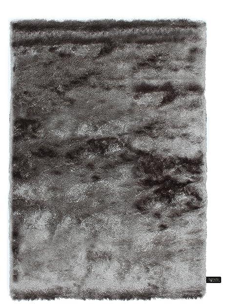 benuta Shaggy Hochflor Teppich Whisper Grau 80x150 cm | Langflor ...