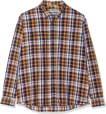 camel active Teodor B.d. 1/1 Camisa, Multicolor, 44 (Talla del Fabricante:) para Hombre: Amazon.es: Ropa y accesorios