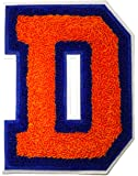 """Letter Patch Embroidered D Varsity Letterman Premium Two Colors Chenille Size 4.5""""W x 6""""L Perfect for Jackets"""