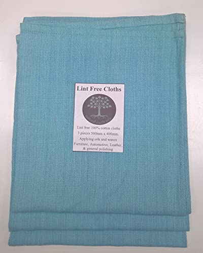 Lint Free Cloths- 3 x 500mm x 400mm- Apply Oils Waxes Dyes Polish